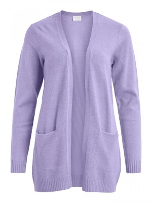 VIRIL OPEN L/S KNIT CARDIGAN - NOOS Lavender