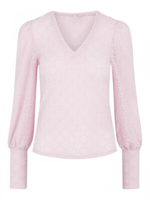 PCGLORIA LS LACE TOP Winsome Orchid