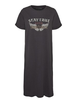 NMHAZEL S/S T-SHIRT DRESS BG KO Obsidian-wings