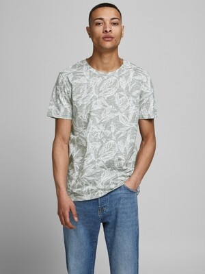 JORLEFO AOP TEE SS CREW NECK Sea Spray/REG