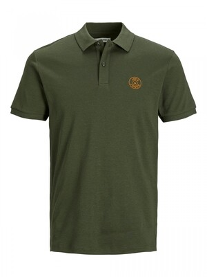 JJEJERSEY CHEST LOGO POLO SS NOOS Forest Night/W. Blac