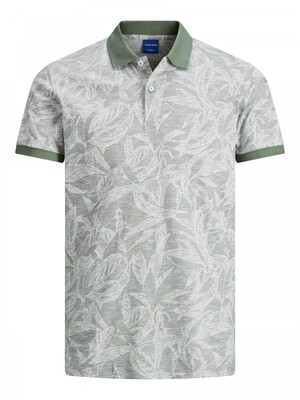 JORLEFO AOP POLO SS Sea Spray/REG