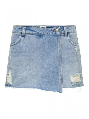 ONLTEXAS LIFE REG LB DNM SKORT BJ Light Blue Denim