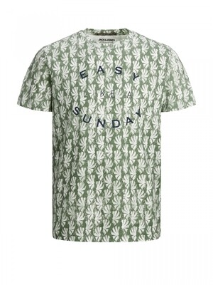 JORSUNNY AOP TEE SS CREW NECK Sea Spray/REG