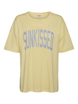 NMIDA S/S OVERSIZE T-SHIRT BG Golden Haze/SUNKISSE