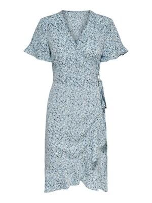 ONLOLIVIA S/S WRAP DRESS WVN NOOS Dusk Blue-TWO TONE FLOWER