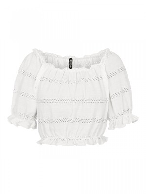PCTAYLEE SS CROPPED TOP BC Bright White