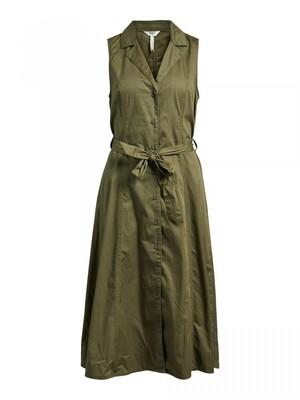OBJTENA S/L LONG DRESS 115 Deep Lichen Green
