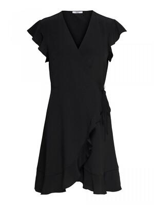 ONLSIA S/S WRAP DRESS WVN Black