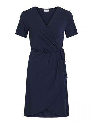 VINAYELI S/S KNEE WRAP DRESS/SU - NOOS Navy Blazer