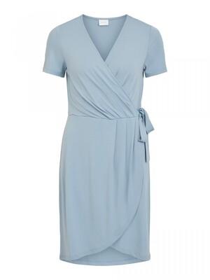 VINAYELI S/S KNEE WRAP DRESS/SU - NOOS Ashley Blue