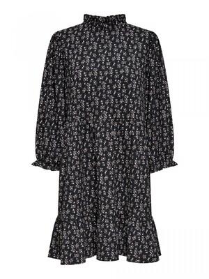 ONLZILLE NAYA 3/4 HIGHNCK DRESS JRS NOOS Black-LAVENDER DITZY