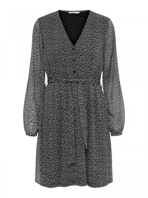 ONLCERA 3/4 SHORT DRESS WVN NOOS black CERA DITSY