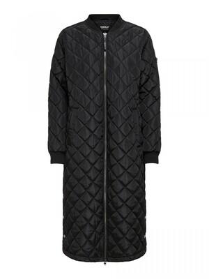 ONLJESSICA X-LONG QUILTED COAT OTW Black
