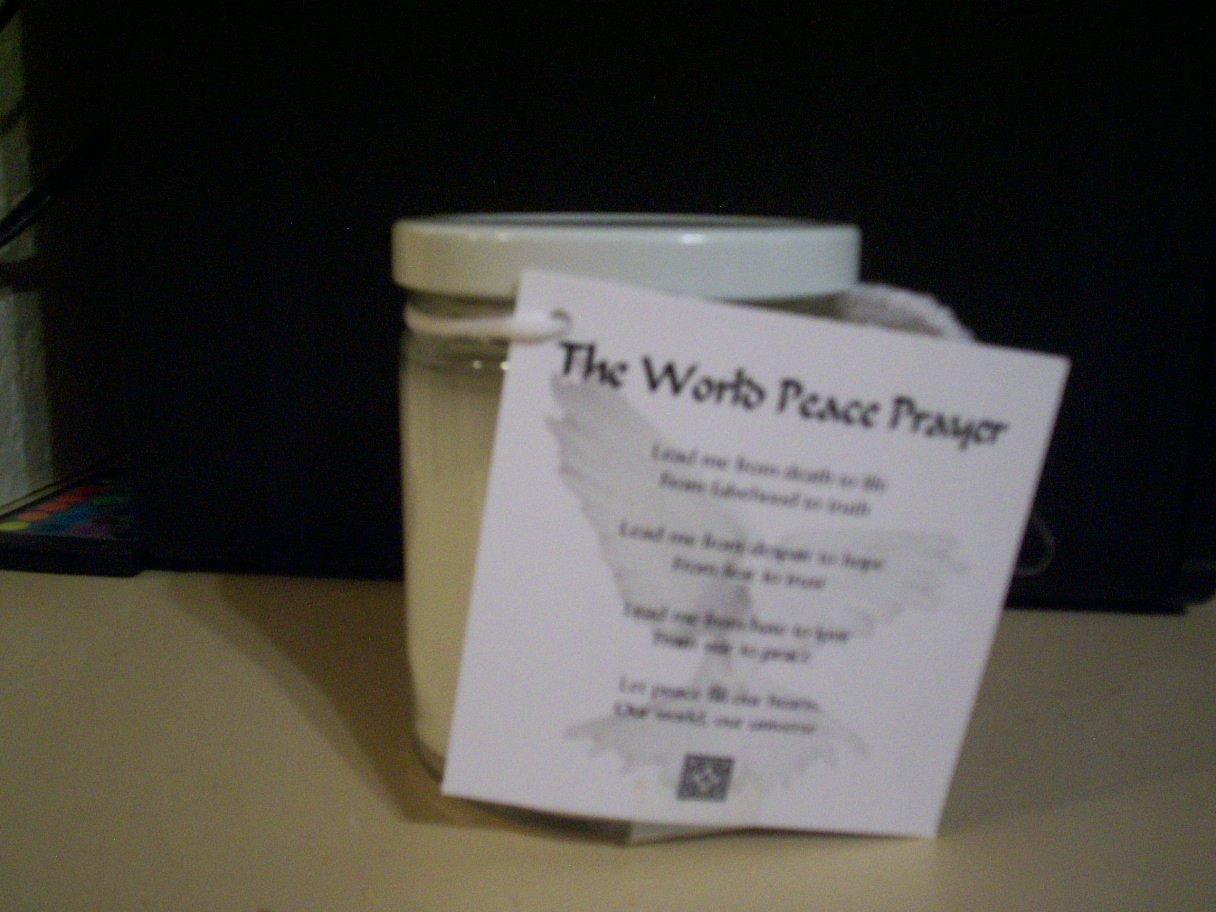 World Peace Prayer Candle