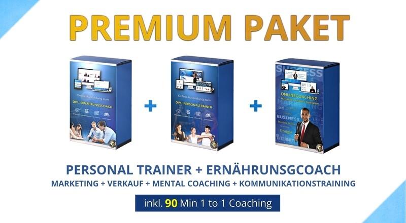 Ernährungscoach + Personal Trainer + Marketing + Verkauf + Mental Coaching + Kommunikationstraining