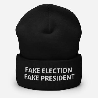 Fake President Cuffed Beanie