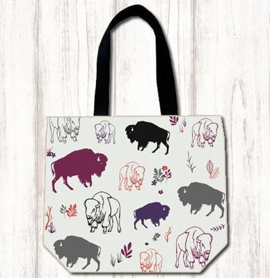Multi Color Bison Shopping Tote
