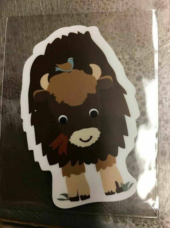 Bison Vinyl Sticker