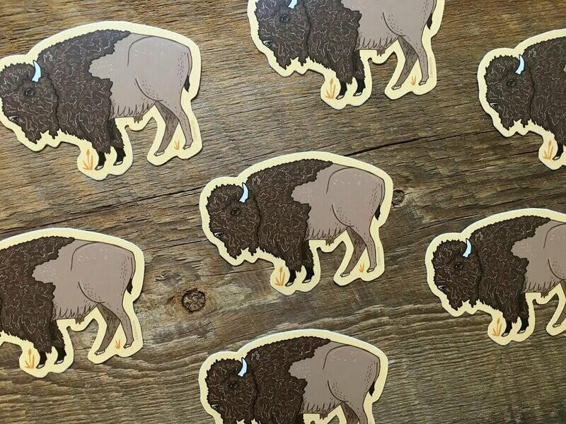 Bison Sticker Noteworthy