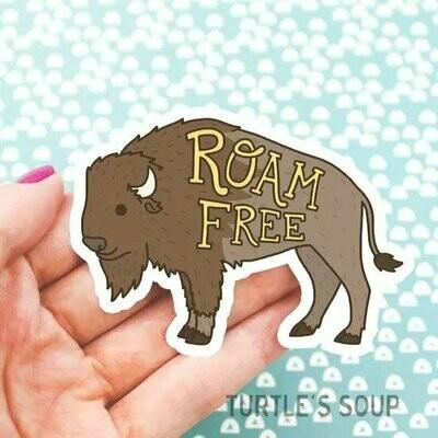 Roam Free Vinyl Sticker
