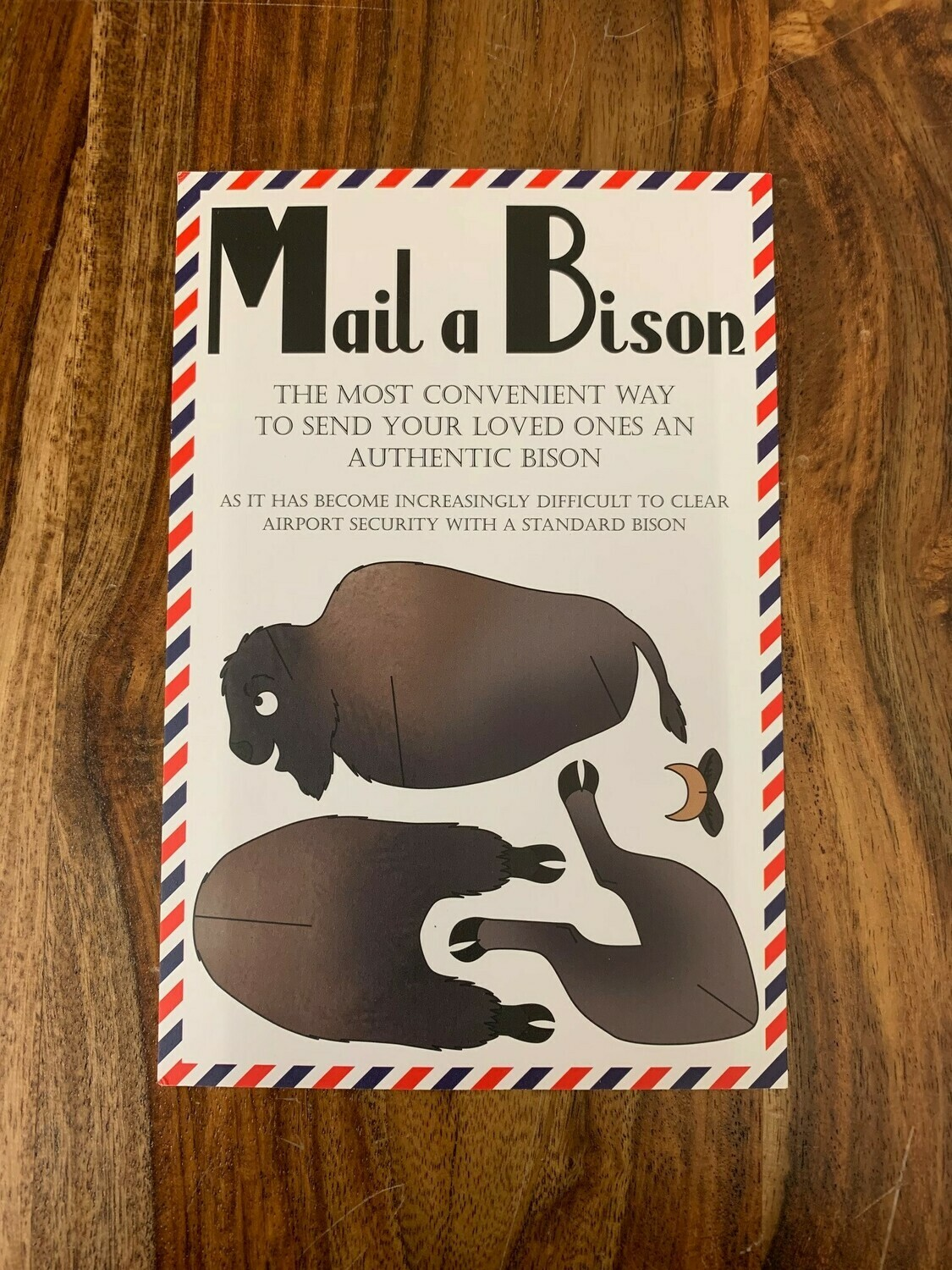 Mail-a-Bison Postcard