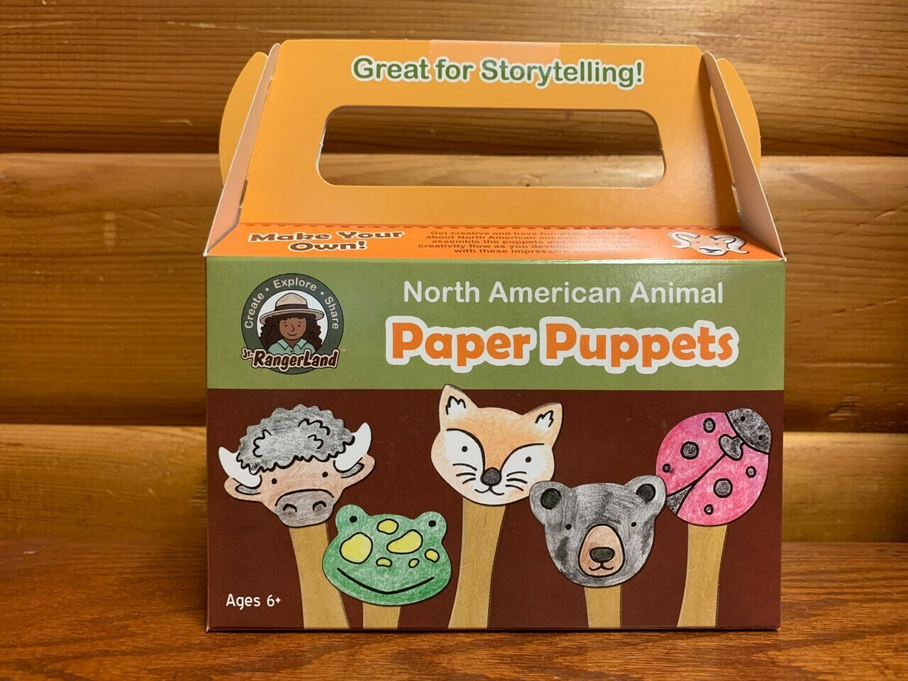 North American Animals Paper Puppet Art Kit