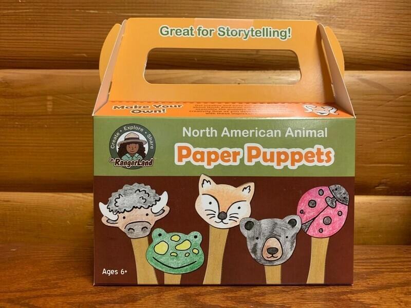 North American Animals Paper Puppet Art Kit