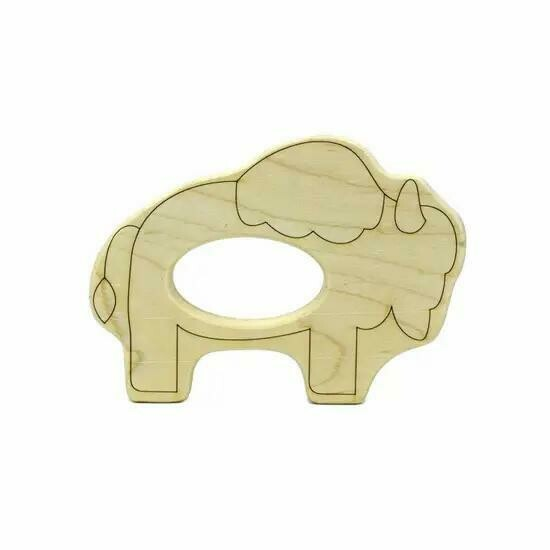 Bison Wood Toy Teether