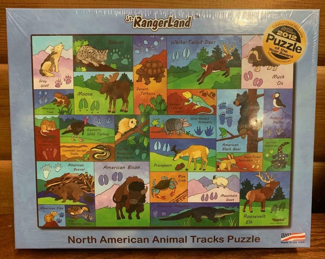 North American Animal Tracks Puzzle