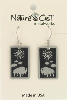 Rectangle Buffalo Earrings