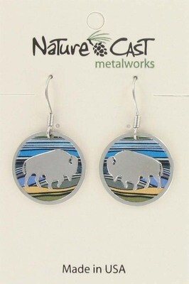 Round Bison Earrings