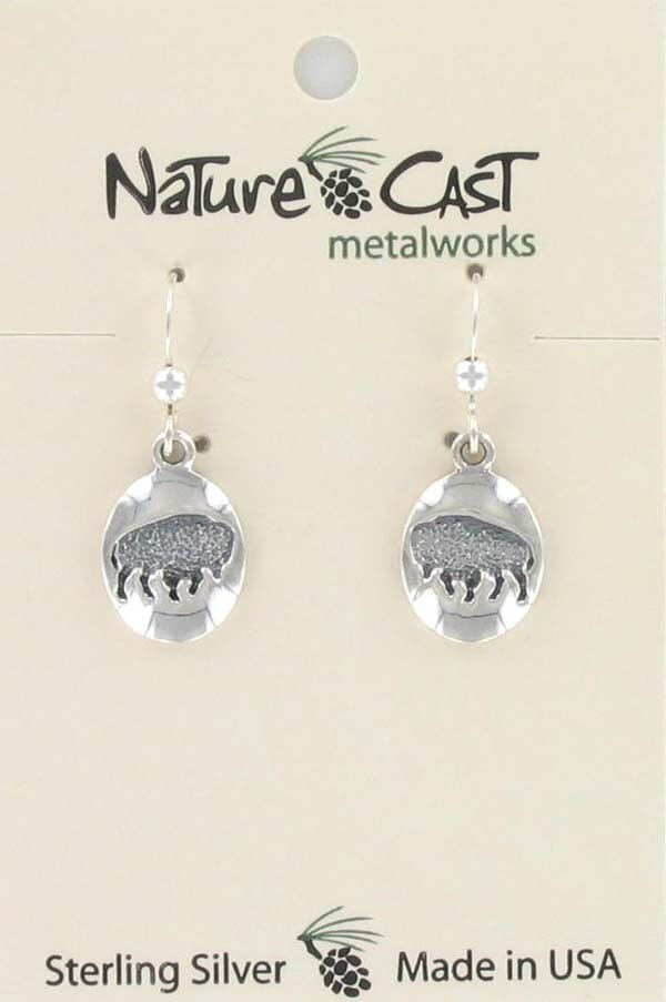 Oval Buffalo Earrings