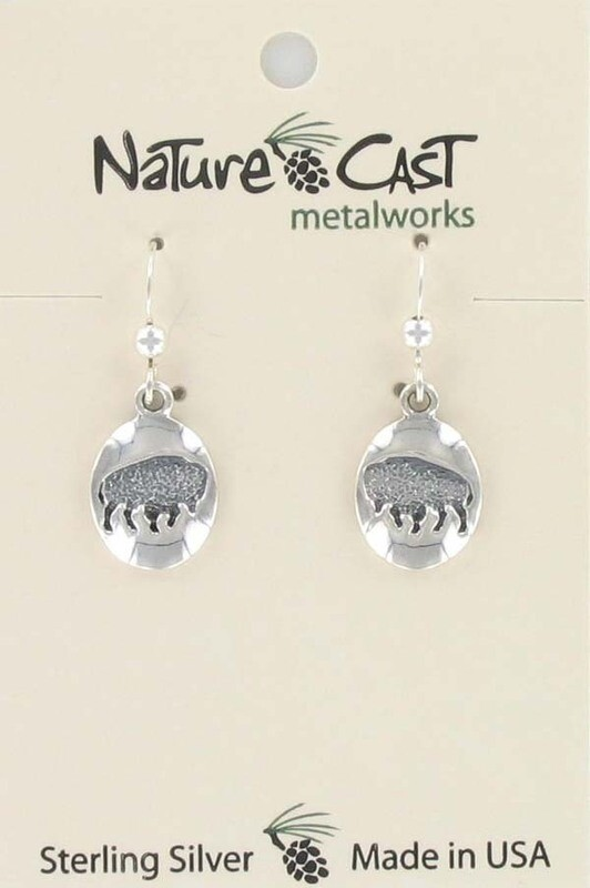 Oval Buffalo Earrings