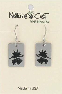 Small Buffalo Earrings