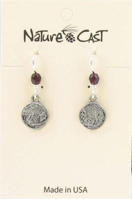 Silver Buffalo Coin Earrings
