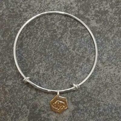 Gold Bison Bracelet