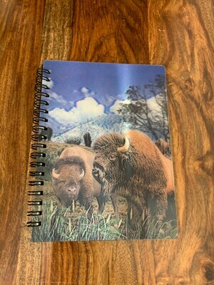 3D Bison Notebook