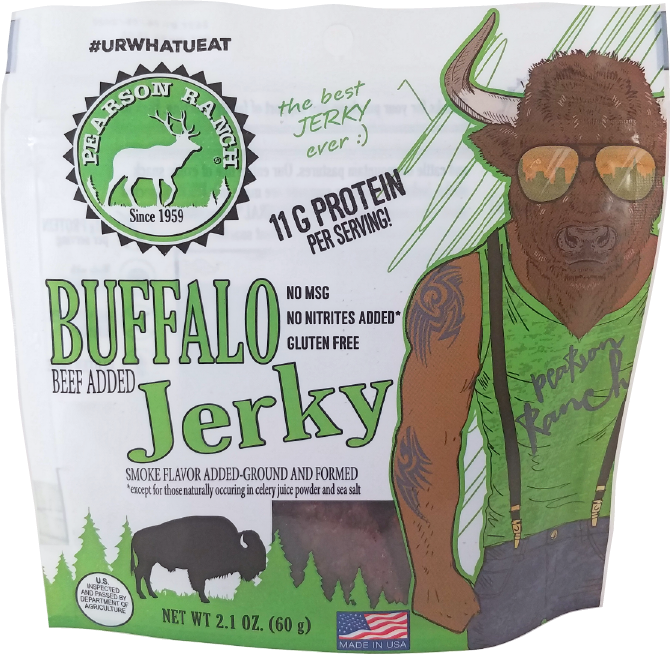 Pearson Buffalo Jerky Resealable Bag