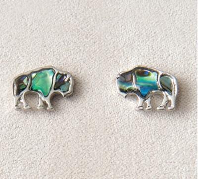 Pearl Bison Stud Earrings