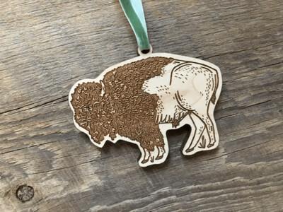 Wood Bison Ornament