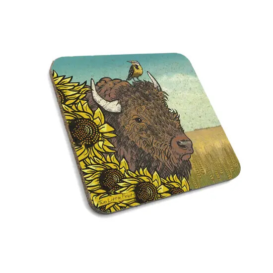 Bison Cork Coaster Set of 4