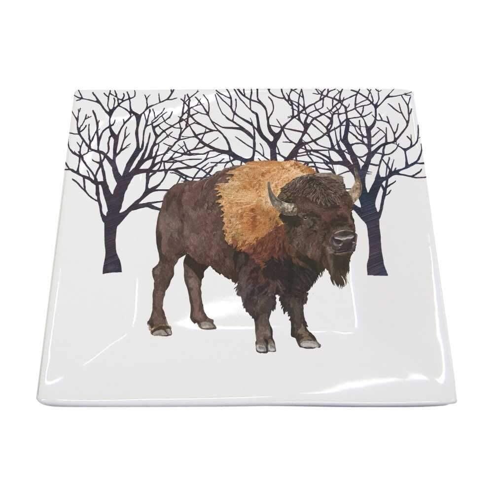 Winter Buffalo Small Square Platter