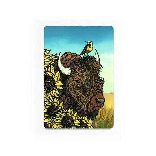 Buffalo Sunflower Magnet