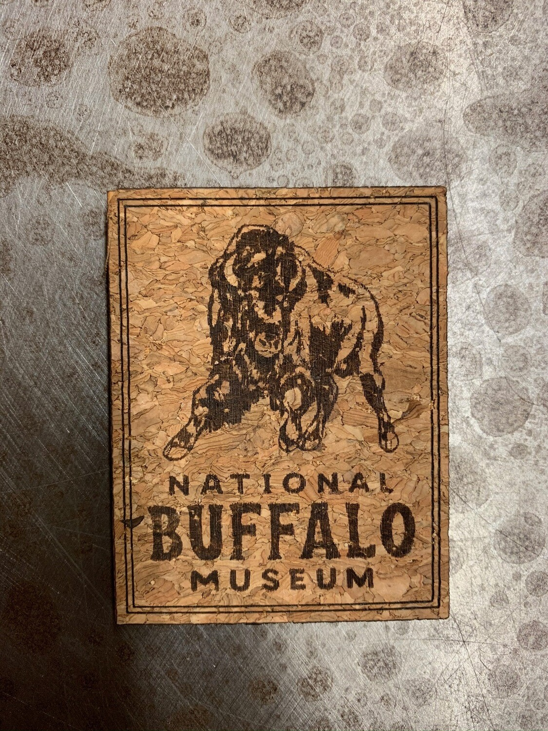 Cork Magnet with National Buffalo Museum Logo