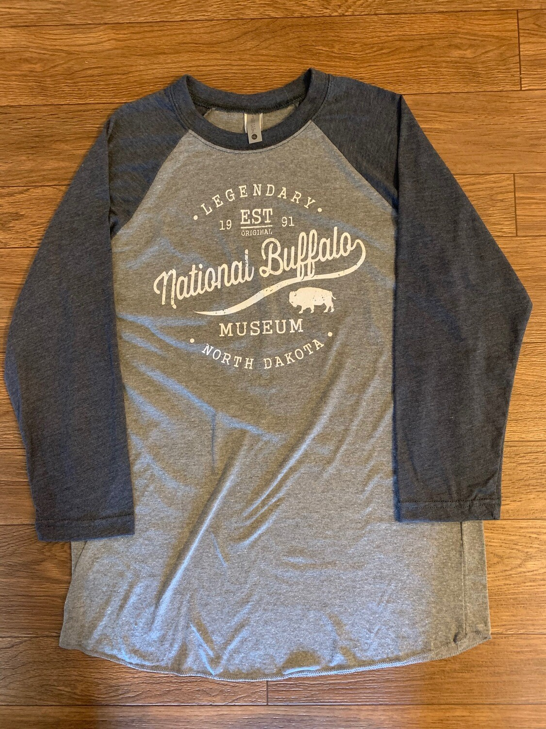 Navy Raglan Tri-Blend National Buffalo Museum T-Shirt