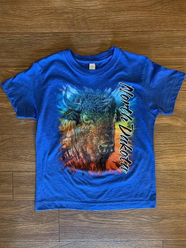 Youth Buffalo Head North Dakota T-Shirt