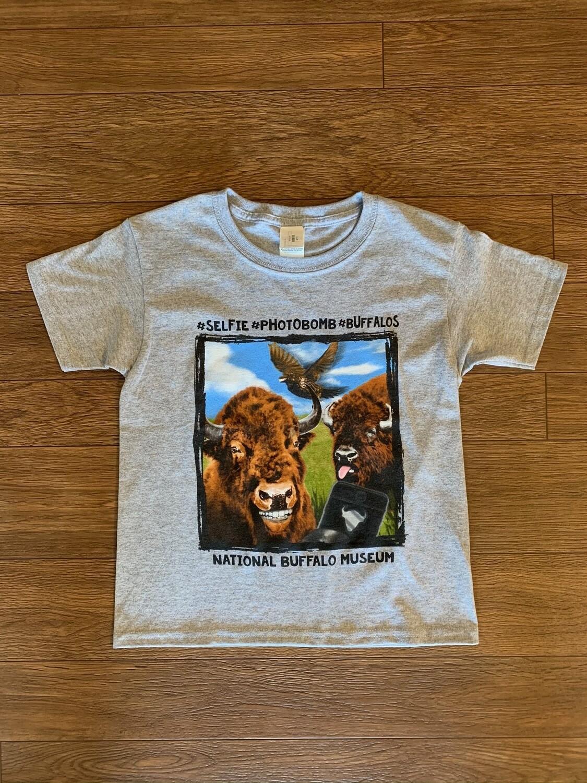 Buffalo Selfie Youth T-Shirt
