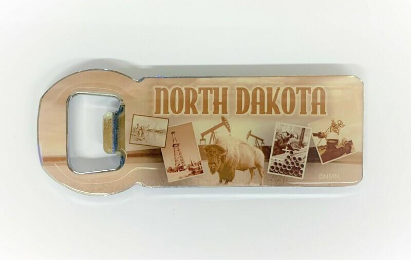 Magnetic North Dakota Bottle Opener