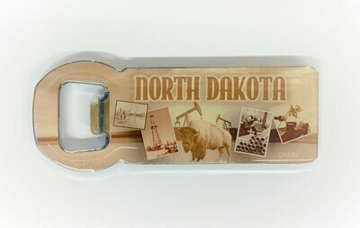 Magnetic North Dakota Bottle Opener